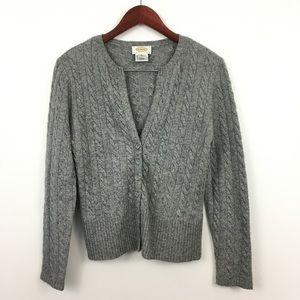2/$20 Talbots Petites Gray Button Down Cardigan